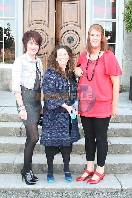 Bernie Devin, Sharon Lenehan and Jackie Cassidy at the Fashion Show in Slane Castle in aid of Stackallen Tennis and Pitch and Putt Club and supporting Action Breast Cancer...Photo NEWSFILE/Jenny Matthews.(Photo credit should read Jenny Matthews/NEWSFILE)....This Picture has been sent you under the condtions enclosed by:.Newsfile Ltd..The Studio,.Millmount Abbey,.Drogheda,.Co Meath..Ireland..Tel: +353(0)41-9871240.Fax: +353(0)41-9871260.GSM: +353(0)86-2500958.email: pictures@newsfile.ie.www.newsfile.ie.FTP: 193.120.102.198.