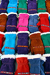 Europe, Scandinavia, Finland, Helsinki. An assortment of winter mittens in the Helsinki market.