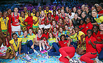 29/10/17 Fast5 2017<br /> Fast 5 Netball World Series<br /> Hisense Arena Melbourne<br /> Grand Final Jamaica v England<br /> <br /> Group image<br /> <br /> <br /> <br /> <br /> Photo: Grant Treeby