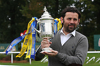 Alloa Athletic manager Paul Hartley with the Scottish Cup. Scottish FA President Campbell Ogilvie joined by former Rangers and Scotland striker Derek Johnstone and Kristof Fahy, Chief Marketing Officer at William Hill, in conducting the draw for Round 3 of the William Hill Scottish Cup which took place at Hamilton Park Racecourse on 1.10.12