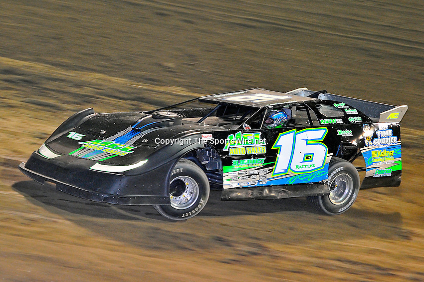 Sep 9, 2011; 9:27:11 PM; Rossburg, OH., USA; The 41st annual running of the World 100 Dirt Late Models racing for the Globe trophy at the Eldora Speedway.  Mandatory Credit: (thesportswire.net)