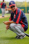 10 March 2006: Eddie Rodriguez, bench coach for the Washington Nationals, prior to a Spring Training game against the Houston Astros. The Astros defeated the Nationals 8-6 at Osceola County Stadium, in Kissimmee, Florida...Mandatory Photo Credit: Ed Wolfstein..