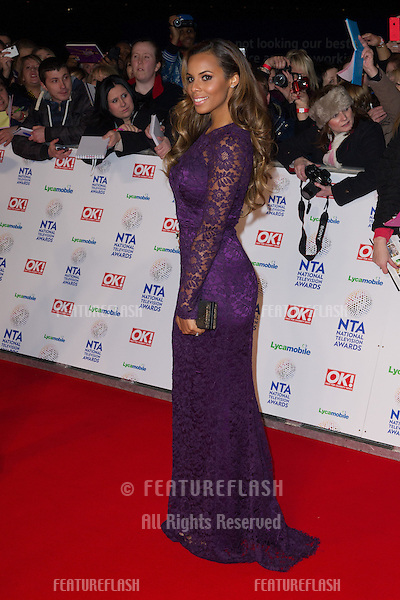 Rochelle Wiseman arriving for the National TV Awards 2014, at the O2, London. 22/01/2014 Picture by: Dave Norton / Featureflash