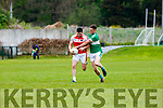 Legion Jonathan Lyne tackles his Kerry team mate Mikey Geaney Dingle during their Club Championship clash in Killarney on Sunday