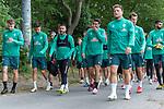30.06.2020, Trainingsgelaende am wohninvest WESERSTADION,, Bremen, GER, 1.FBL, Werder Bremen Training, im Bild<br /> <br /> <br /> Spieler gegen zum Training, <br /> Christian Groß / Gross (Werder Bremen #36)<br /> Leonardo Bittencourt  (Werder Bremen #10)<br /> Claudio Pizarro (Werder Bremen #14)<br /> Philipp Bargfrede (Werder Bremen #44)<br /> Sebastian Langkamp (Werder Bremen #15)<br /> <br /> <br /> Foto © nordphoto / Kokenge