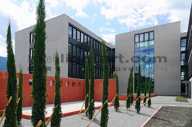 LGT Bank, Verwaltungsgebäude in Bendern-Gamprin, Liechtenstein.