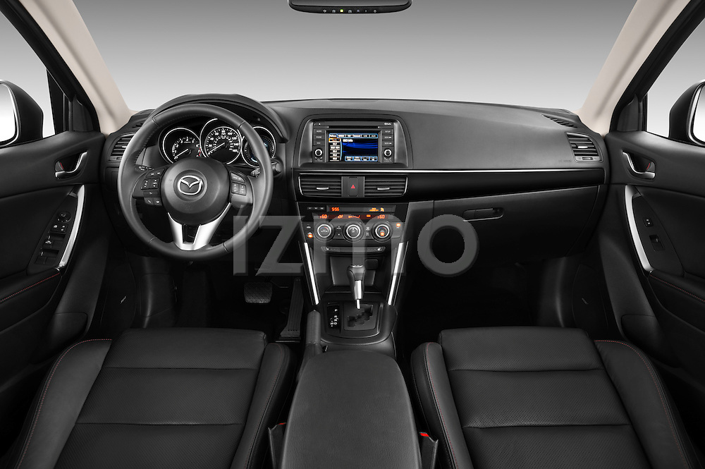 Steering wheel view of a 2013 Mazda CX-5 GT