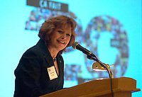 February 28 2003, Montreal, Quebec, Canada<br /> <br /> Lizette Lapointe, wife of Jacques Parizeau, former Premier of Quebec, speak at the 20th Auto Prevention conference February 28 2003,<br />   in Montreal, Canada.<br /> <br /> Lapointe has been involved for many years in the automobile industry's security.<br /> <br /> Mandatory Credit: Photo by Pierre Roussel- Images Distribution. (©) Copyright 2002 by Pierre Roussel <br /> <br /> NOTE : <br />  Nikon D-1 jpeg opened with Qimage icc profile, saved in Adobe 1998 RGB<br /> .Uncompressed  Original  size  file availble on request.