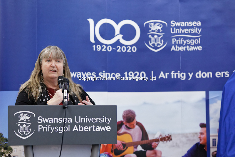 Pictured: Julie James AM. Monday 04 February 2019<br /> Re: Opening of the Computational Foundry at the Swansea University Bay Campus, south Wales, UK.