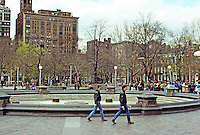 New York City: Washington Square. Street scene.  Photo '78.
