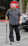 .March 31st 2012 ..James Gandolfini injured walking with a cane at the Beverly Glen shopping center after eating lunch at the deli in Los Angeles. ..AbilityFilms@yahoo.com.805-427-3519.www.AbilityFilms.com..