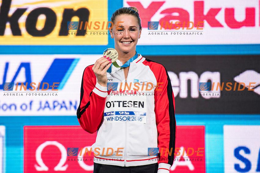 OTTESEN Jeanette DEN Gold Medal<br /> Women's 50m Butterfly<br /> 13th Fina World Swimming Championships 25m <br /> Windsor  Dec. 9th, 2016 - Day04 Finals<br /> WFCU Centre - Windsor Ontario Canada CAN <br /> 20161209 WFCU Centre - Windsor Ontario Canada CAN <br /> Photo &copy; Giorgio Scala/Deepbluemedia/Insidefoto