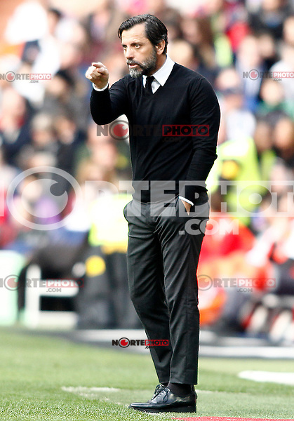 RCD Espanyol's coach Quique Sanchez Flores during La Liga match. February 18,2017. (ALTERPHOTOS/Acero) /Nortephoto.com