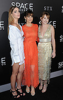 www.acepixs.com<br /> <br /> January 17 2017, LA<br /> <br /> Janet Montgomery, Carla Gugino and Britt Robertson arriving at the premiere 'The Space Between Us' at the ArcLight Hollywood on January 17, 2017 in Hollywood, California. <br /> <br /> By Line: Peter West/ACE Pictures<br /> <br /> <br /> ACE Pictures Inc<br /> Tel: 6467670430<br /> Email: info@acepixs.com<br /> www.acepixs.com
