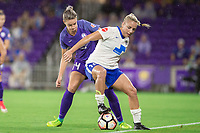 Orlando, FL - Saturday June 03, 2017: Alanna Kennedy, Adriana Salem during a regular season National Women's Soccer League (NWSL) match between the Orlando Pride and the Boston Breakers at Orlando City Stadium.