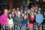 SURPRISE 4-OH!: Mossy Brosnan, Tralee (front centre) got a lovely surprise from his wife Mary for his 40th birthday last Saturday night when she enticed him in to the main bar of the Grand hotel, Tralee to find a huge crowd of friends and family waiting inside to celebrate with him.