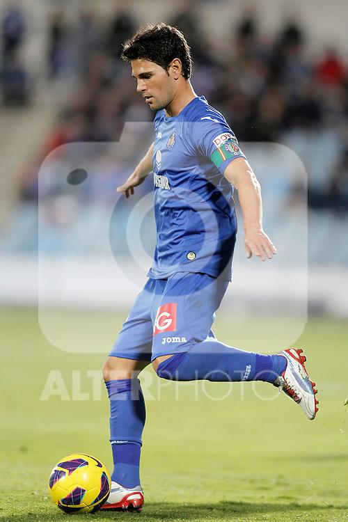 Getafe's Jaime Gavilan during La Liga match.November 18,2012. (ALTERPHOTOS/Acero)