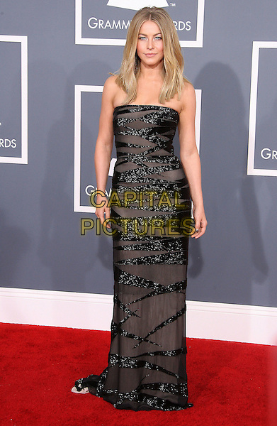 Julianne Hough.The 54th Annual GRAMMY Awards held at the Staples Center, Los Angeles, California, USA..February 12th, 2012.full length black sheer sequins sequined strapless dress .CAP/ADM.©AdMedia/Capital Pictures.