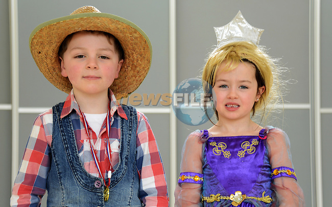 06/03/2015 –  Collon National School fancy dress day to mark International Book Day – James Delany and Caoimhe Callaghan. Picture: newsfile.ie