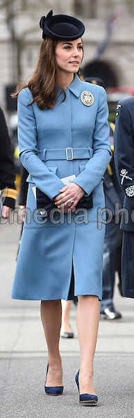 07 February 2016 - London, England - Princess Kate meets cadets during the 75th Anniversary of the RAF Air Cadets at St Clement Danes Church in London. Photo Credit: Alpha Press/AdMedia