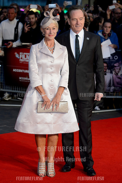 Dame Helen Mirren &amp; Bryan Cranston at the premiere of &quot;Trumbo&quot;, as part of the London Film Festival 2015, at the Odeon Leicester Square, London.<br /> October 8, 2015  London, UK<br /> Picture: Dave Norton / Featureflash