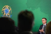 BRASILIA, DF, 02.01.2019 - BOLSONARO-PORTUGAL-    O presidente da República, Jair Bolsonaro, durante cerimônia de transmissão do cargo de ministros, no Palácio do Planalto, nesta quarta, 02. (Foto:Ed Ferreira / Brazil Photo Press)