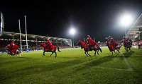 Crusaders horsemen before the 2018 Super Rugby final between the Crusaders and Lions at AMI Stadium in Christchurch, New Zealand on Sunday, 29 July 2018. Photo: Joe Johnson / lintottphoto.co.nz