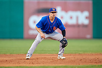 Midland RockHounds third baseman Jordan Tarsovich (5) during a game against the Arkansas Travelers on May 25, 2017 at Dickey-Stephens Park in Little Rock, Arkansas.  Midland defeated Arkansas 8-1.  (Mike Janes/Four Seam Images)