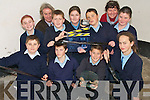 FILM MAKERS: Pupils with their teachers from Boueenshire National School who won the The Fi?s Best Carmody shot film award in the Helix last week. Pupils : Shane Nolan, Lee O'Sullivan, Calum Irving, Rachel Walsh, Ella Horgan, Eoin Lucid, Nora Kearney, Jerry O'halloran and Kieran O'halloran, Teachers; Class Teacher Terence Dineen and principle Eileen Galloway..   Copyright Kerry's Eye 2008