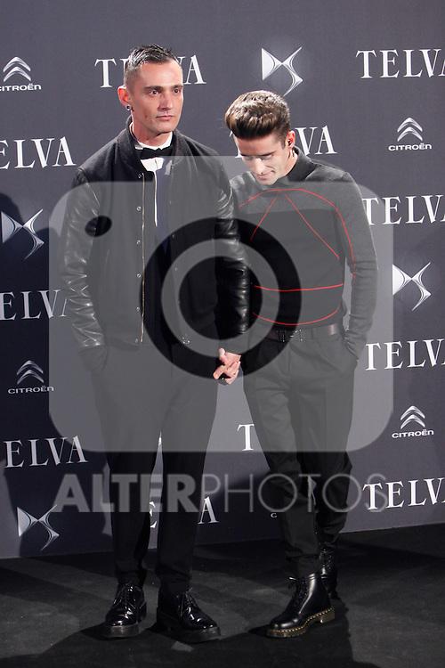 Spanish designer David Delfin (L) and Pelayo Diaz Zapico attend the Telva Magazine Fashion Awards 2013 at the Palacio de Cibeles in Madrid, Spain.. December 02, 2013. (ALTERPHOTOS/Caro Marin)