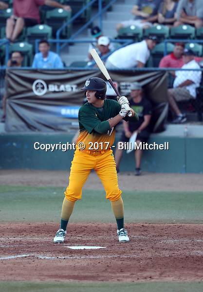 Christian Almanza plays in the 2017 Area Code Games on August 6-10, 2017 at Blair Field in Long Beach, California (Bill Mitchell)