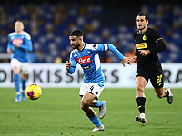 6th January 2020; Stadio San Paolo, Naples, Campania, Italy; Serie A Football, Napoli versus Inter Milan; Lorenzo Insigne of Napoli breaks toeards goal