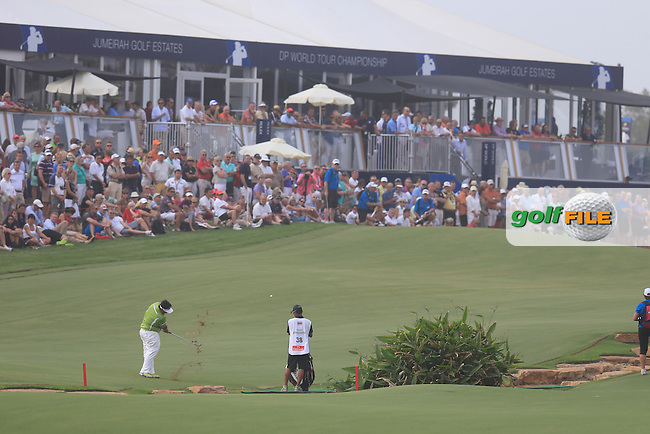 Kiradech APHIBARNRAT (THA) during round 4 of the DP World, Tour Championship, Dubai, UAE.<br /> Picture: Fran Caffrey www.golffile.ie