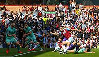 Burnley's Matthew Lowton shoots at goal<br /> <br /> Photographer Alex Dodd/CameraSport<br /> <br /> The Premier League - Burnley v Arsenal - Sunday 12th May 2019 - Turf Moor - Burnley<br /> <br /> World Copyright &copy; 2019 CameraSport. All rights reserved. 43 Linden Ave. Countesthorpe. Leicester. England. LE8 5PG - Tel: +44 (0) 116 277 4147 - admin@camerasport.com - www.camerasport.com