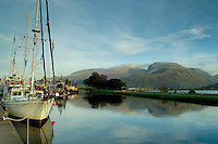 Ben Nevis and the Caledonian Canal from Corpach, Lochaber<br /> <br /> Copyright www.scottishhorizons.co.uk/Keith Fergus 2011 All Rights Reserved