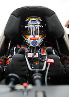 Mar 16, 2019; Gainesville, FL, USA; NHRA top fuel driver Austin Prock during qualifying for the Gatornationals at Gainesville Raceway. Mandatory Credit: Mark J. Rebilas-USA TODAY Sports