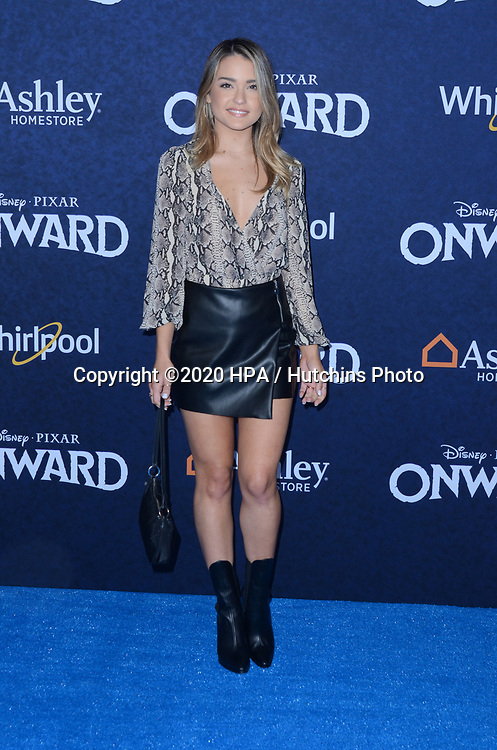 """LOS ANGELES - FEB 18:  Vale Genta at the """"Onward"""" Premiere at the El Capitan Theater on February 18, 2020 in Los Angeles, CA"""
