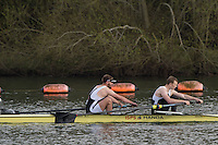 Caversham. Berkshire. UK<br /> Men's pair, Luke MOON and Sam WHITTAKER, competing at the 2016 GBRowing U23 Trials at the GBRowing Training base near Reading, Berkshire.<br /> <br /> Monday  11/04/2016 <br /> <br /> [Mandatory Credit; Peter SPURRIER/Intersport-images]