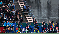 Seattle, WA - Saturday March 24, 2018: Walkout during a regular season National Women's Soccer League (NWSL) match between the Seattle Reign FC and the Washington Spirit at the UW Medicine Pitch at Memorial Stadium.