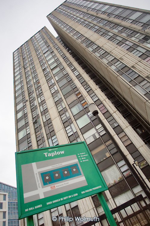 Taplow Tower, one of four high-rise blocks on Camden Council's Chalcots Estate.