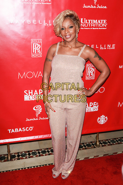 New York, NY- January 31: Mary J. Blige at Shape &amp; Men's Fitness Kickoff Party at Cipriani 42nd Street on January 31, 2014 in New York City.  <br /> CAP/MPI/COR<br /> &copy;Corredor99/ MediaPunch/Capital Pictures