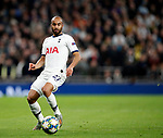 Tottenham's Lucas Moura during the UEFA Champions League match at the Tottenham Hotspur Stadium, London. Picture date: 26th November 2019. Picture credit should read: David Klein/Sportimage