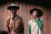 Man and wife laughing. Malibcong, Abra. August, 1999
