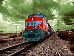 Vintage diesel train in USA