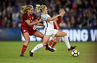 Orlando City, FL - Wednesday March 07, 2018: Allie Long during a 2018 SheBelieves Cup match between the women's national teams of the United States (USA) and England (ENG) at Orlando City Stadium.