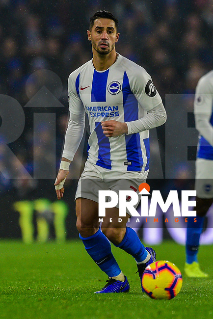 Beram Kayal of Brighton & Hove Albion (7)  during the Premier League match between Brighton and Hove Albion and Leicester City at the American Express Community Stadium, Brighton and Hove, England on 24 November 2018. Photo by Edward Thomas / PRiME Media Images.
