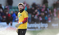Lincoln City's Josh Vickers during the pre-match warm-up<br /> <br /> Photographer Chris Vaughan/CameraSport<br /> <br /> The EFL Sky Bet League Two - Lincoln City v Northampton Town - Saturday 9th February 2019 - Sincil Bank - Lincoln<br /> <br /> World Copyright &copy; 2019 CameraSport. All rights reserved. 43 Linden Ave. Countesthorpe. Leicester. England. LE8 5PG - Tel: +44 (0) 116 277 4147 - admin@camerasport.com - www.camerasport.com