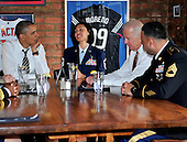 United States President Barack Obama and Vice President Joe Biden have lunch with active duty service members at Molly Malone's on Barack Row in Washington, D.C. on Tuesday, November 12, 2013.<br /> Credit: Ron Sachs / Pool via CNP