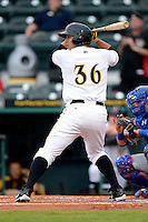 Bradenton Marauders first baseman Jose Osuna #36 during a game against the St. Lucie Mets on April 12, 2013 at McKechnie Field in Bradenton, Florida.  St. Lucie defeated Bradenton 6-5 in 12 innings.  (Mike Janes/Four Seam Images)