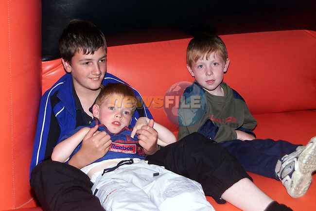 Sean Meagher, Rowan Heights, Kurtis Quilty, Beechwood Avenue and Paul Flood, Newfield who took part in the Drogheda Summer Project 2000 in The Village, Fair street..Picture Paul Mohan Newsfile